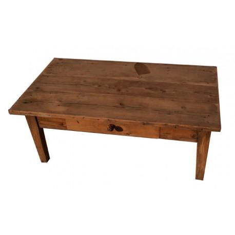 Table basse sapin un tiroir